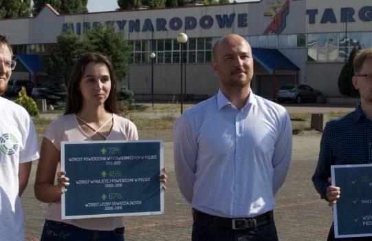 Międzynarodowe Targi Szczecińskie obok lotniska w Dąbiu