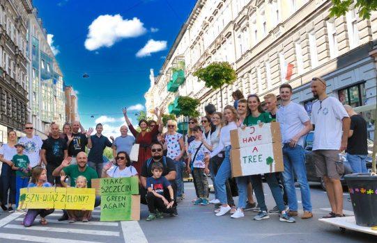 Wędrujące Drzewa na ul. Monte Cassino